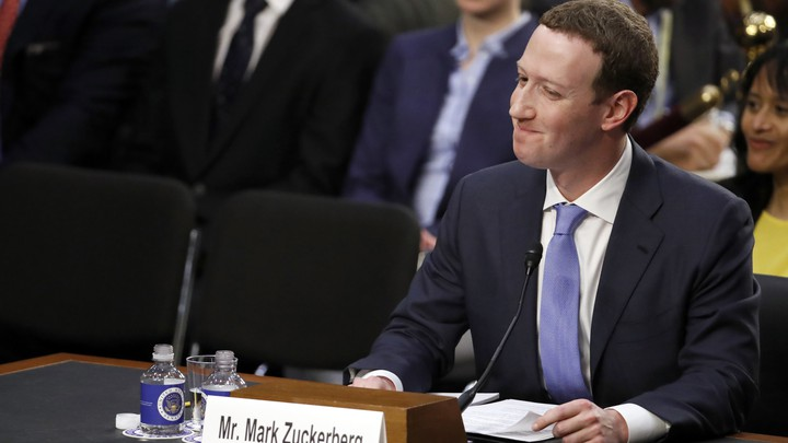Mark Zuckerberg testifies before the Senate Commerce and Judiciary committees on Tuesday.