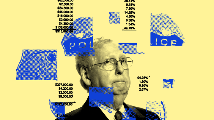 An illustration of Mitch McConnell