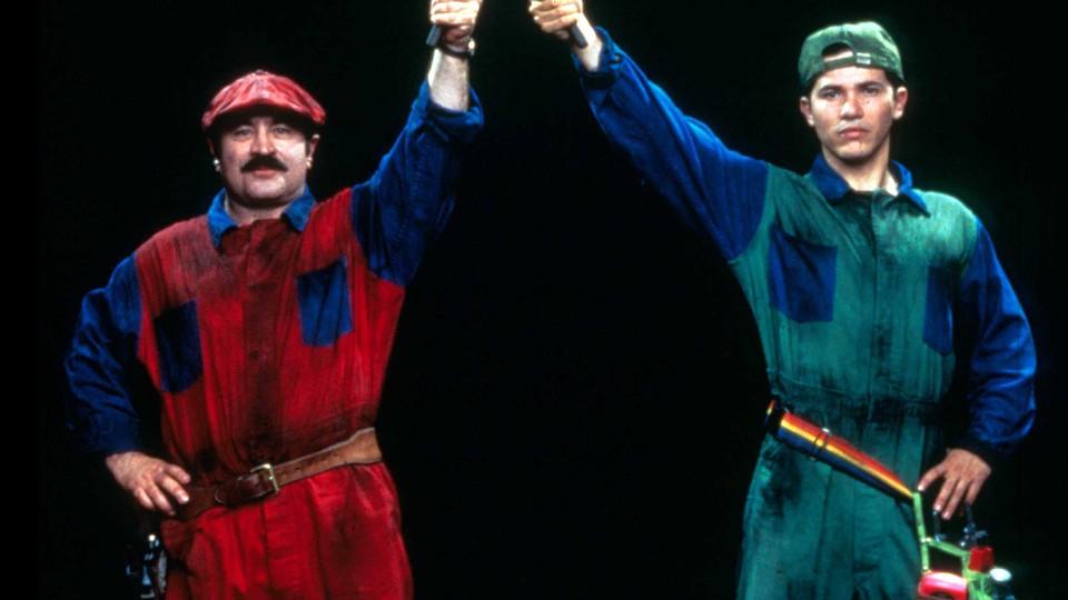 Bob Hoskins and John Leguizamo as Mario and Luigi in 'Super Mario Bros.'