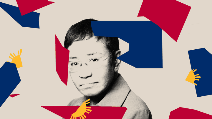 An edited image of Maria Ressa