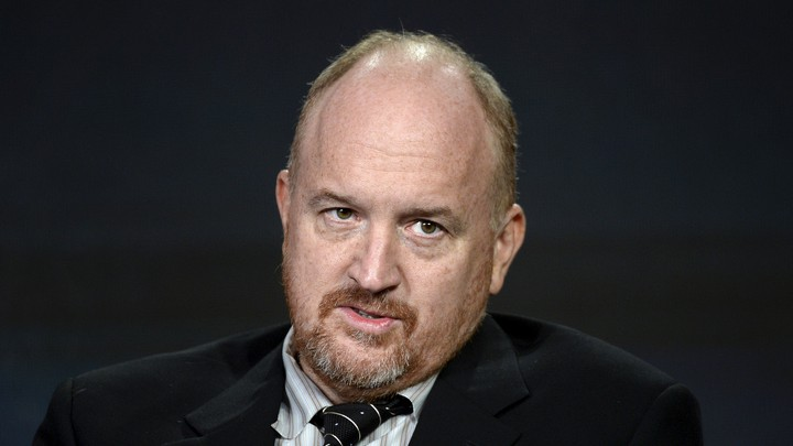 "Louis C.K. participates in a panel for the FX Networks series ""Baskets"" during the Television Critics Association Cable Winter Press Tour in Pasadena, California, on January 16, 2016."
