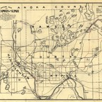 A map of Minneapolis from the late 19th century.