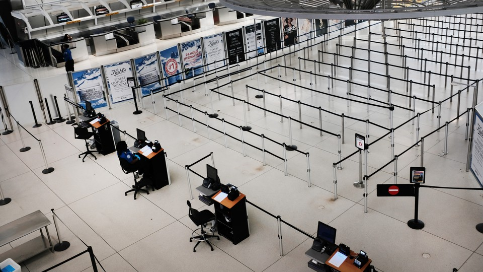 An empty airport