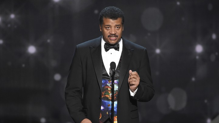 Neil deGrasse Tyson speaks at the Creative Arts Emmy Awards on September 11, 2016, in Los Angeles.