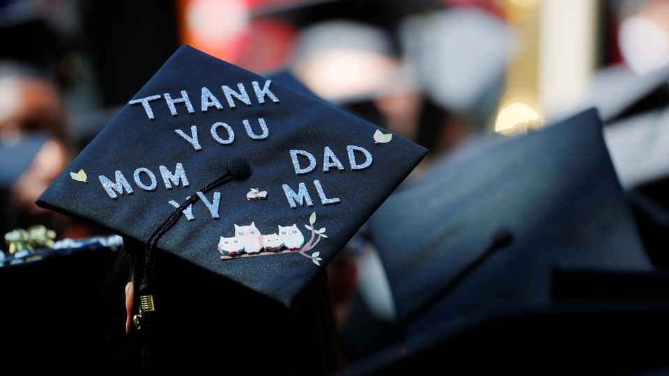 A student's graduation cap