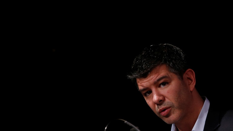 Uber CEO Travis Kalanick, addresses a gathering at an event in New Delhi, India, December 16, 2016