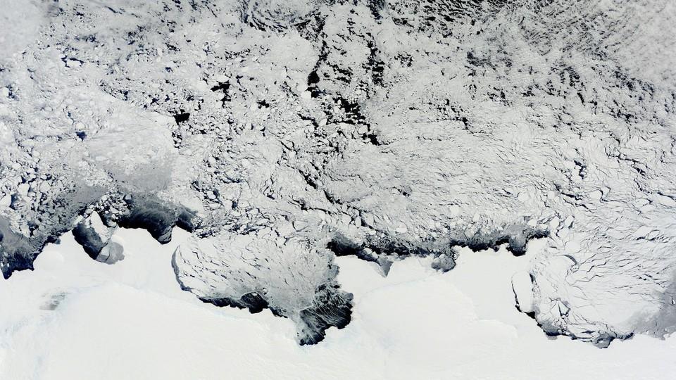 Satellite image of Antarctic ice from 2011