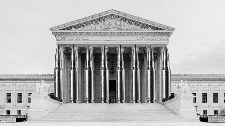 The Supreme Court with bullets for columns