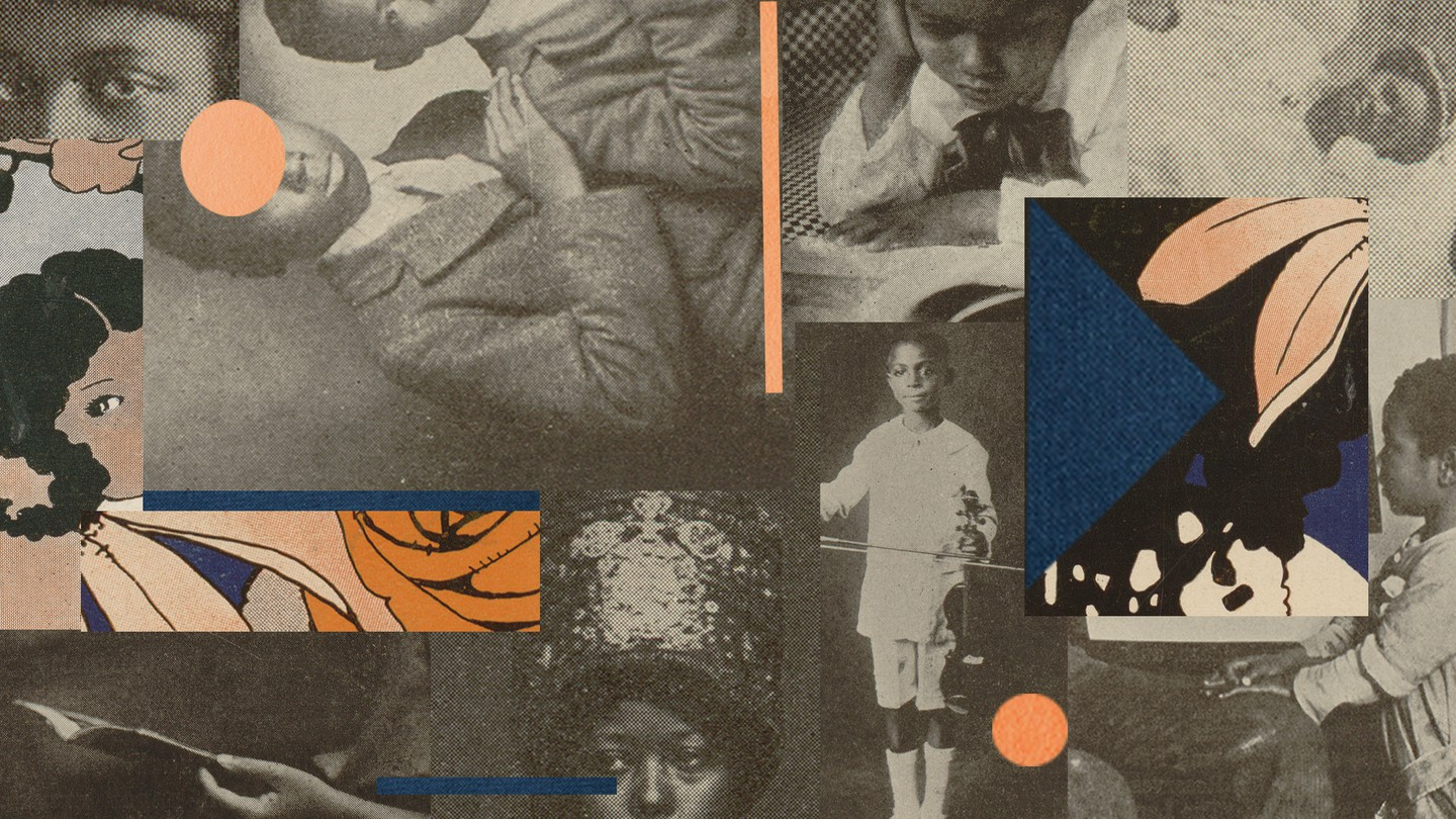 Collage of Black children's portraits from the 1920s