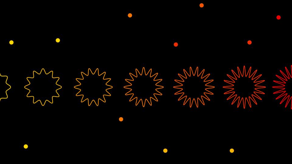 Abstract art of a virus evolving