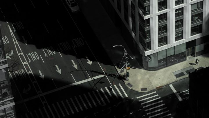 An empty street in Manhattan