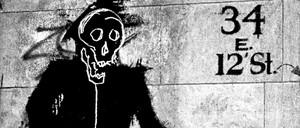 "One of Richard Hambleton's ""Shadowmen"""