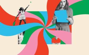 Illustration with Serena Williams, Natalie Portman, Gordon Ramsay, Malcolm Gladwell