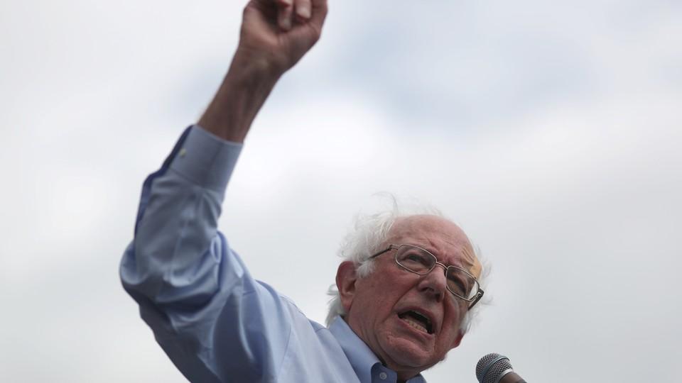 Democratic U.S. 2020 presidential candidate Bernie Sanders speaks at a rally in downtown Los Angeles, California, U.S., March 23, 2019.