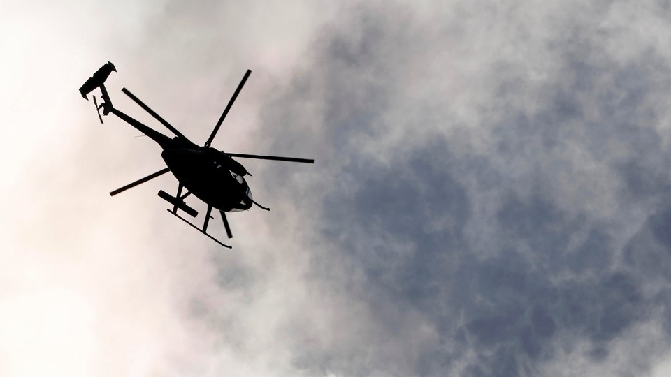 A military helicopter prepares to attack the Maute group stronghold in Marawi City, southern Philippines on May 30, 2017.