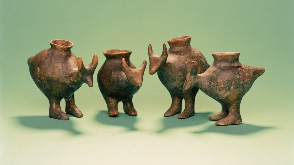 Ancient animal-shaped baby bottles