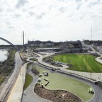 A riverfront park project in downtown Nashville