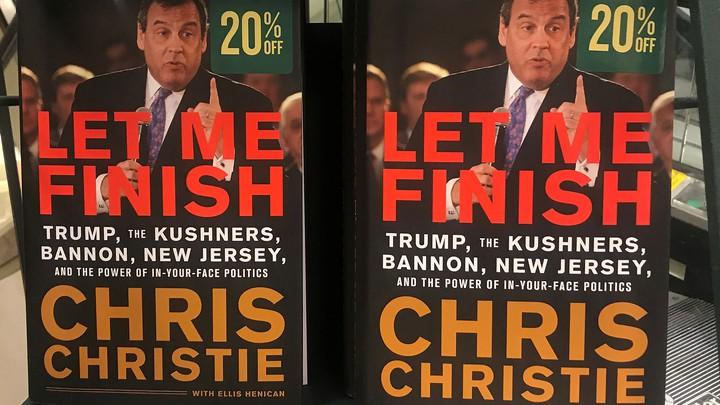 "Chris Christie's book ""Let Me Finish"" on sale"