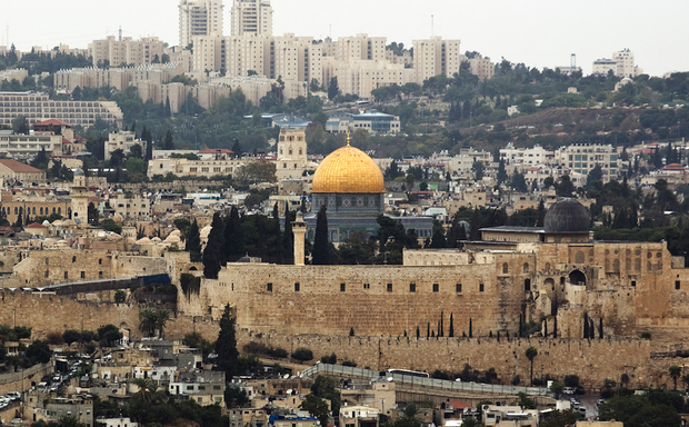 A general view of Old City Jerusalem, which may have a cable car system by 2021.