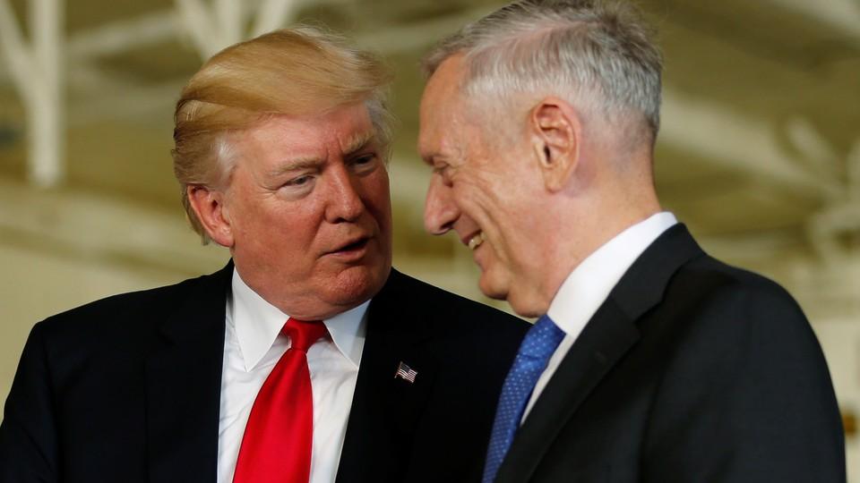 President Trump and Defense Secretary James Mattis