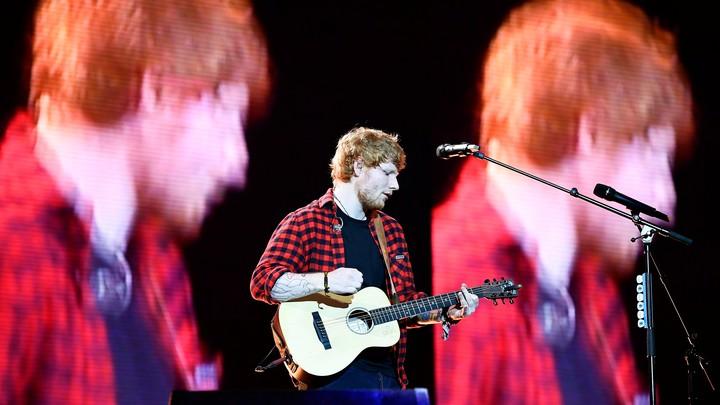 Ed Sheeran at the Glastonbury Festival in 2017