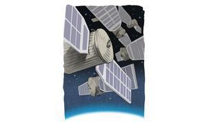 Illustration of spacecrafts