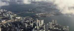 An aerial photo of downtown Miami.
