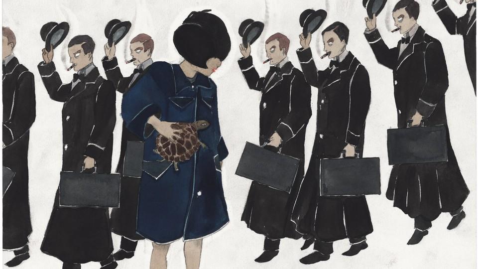 Cover of 'Momo' by Marcel Dzama