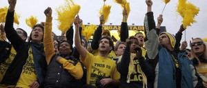 Students at the University of Michigan are pictured.