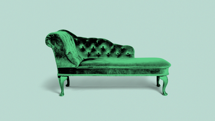 An image of a therapist's couch