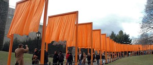 "photo: In February 2005, Christo and Jeanne-Claude unveiled ""The Gates"" in New York's Central Park."