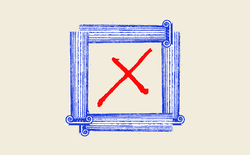 An illustration of a check box made up of legal columns