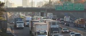 a photo of Interstate 5 in Portland, Oregon