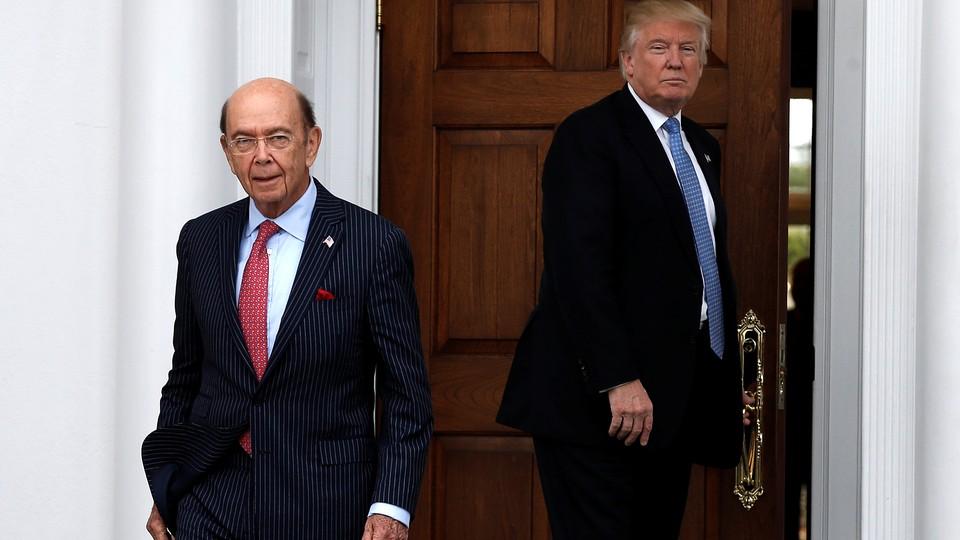 Wilbur Ross and Donald Trump