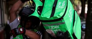 Uber Eats worker