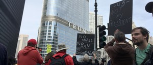 Protesters at Chicago's Trump Tower