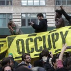 Occupy Wall Street protesters rally in Canal Street in Lower Manhattan in November 2011.
