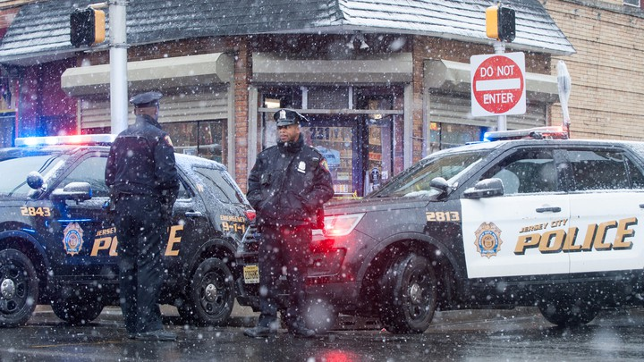 Jersey City police offers and cars
