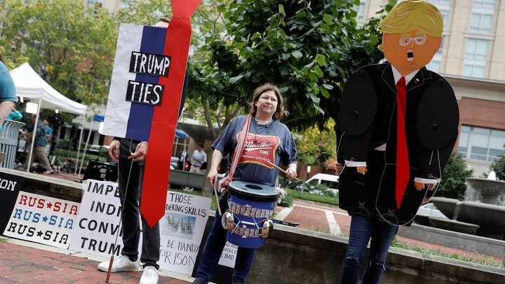 Protesters outside a U.S. district courthouse on Tuesday