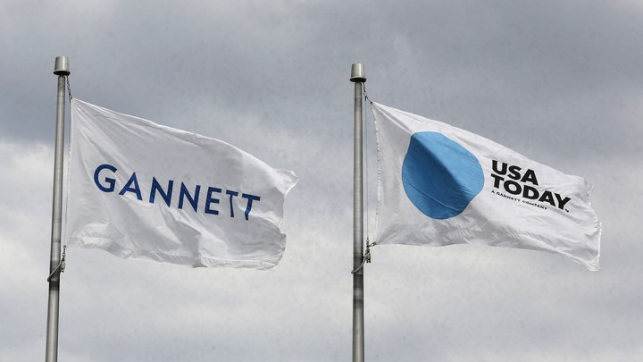 Gannett and USA Today flags