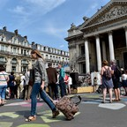 A photo of a newly pedestrianized area of central Brussels in 2015.