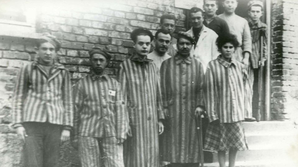 Prisoners at the Auschwitz concentration camp