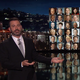 Jimmy Kimmel points to the congressmen and women who voted against gun control, during an emotional opening monologue about the mass shooting in Las Vegas