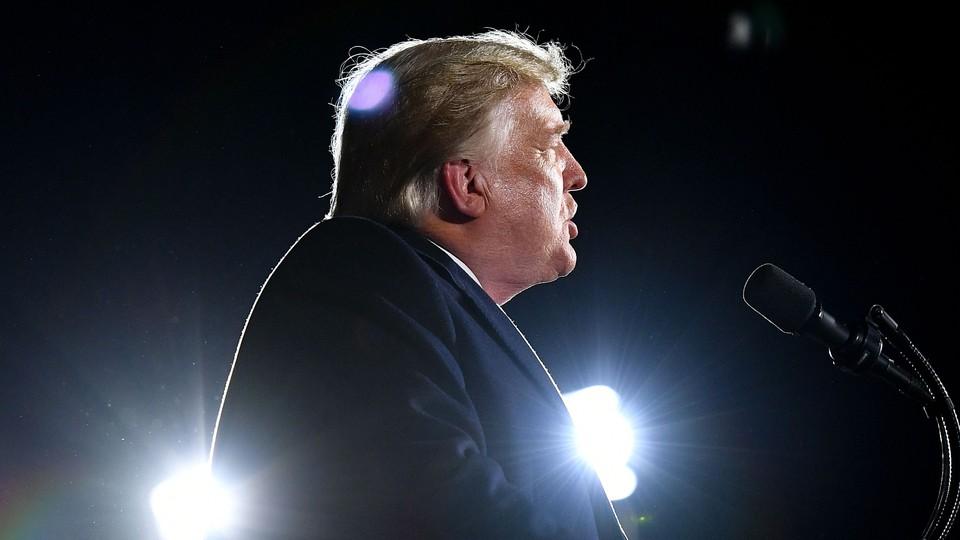 Donald Trump speaks in Georgia.