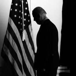 Joe Biden in silhouette