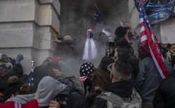 Insurrectionists at the U.S. Capitol on January 6