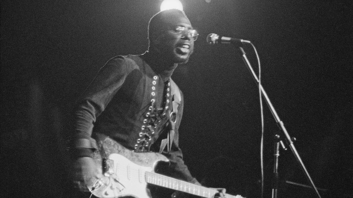 Curtis Mayfield performs in London on January 28, 1972.