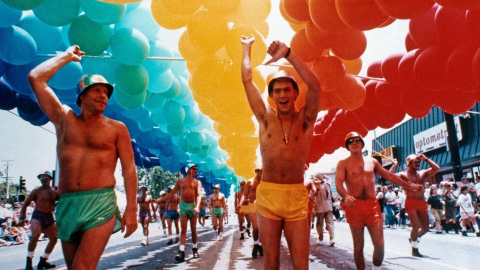 A 1991 Gay Pride Parade in West Hollywood, California