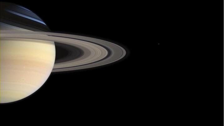 Saturn as seen from below