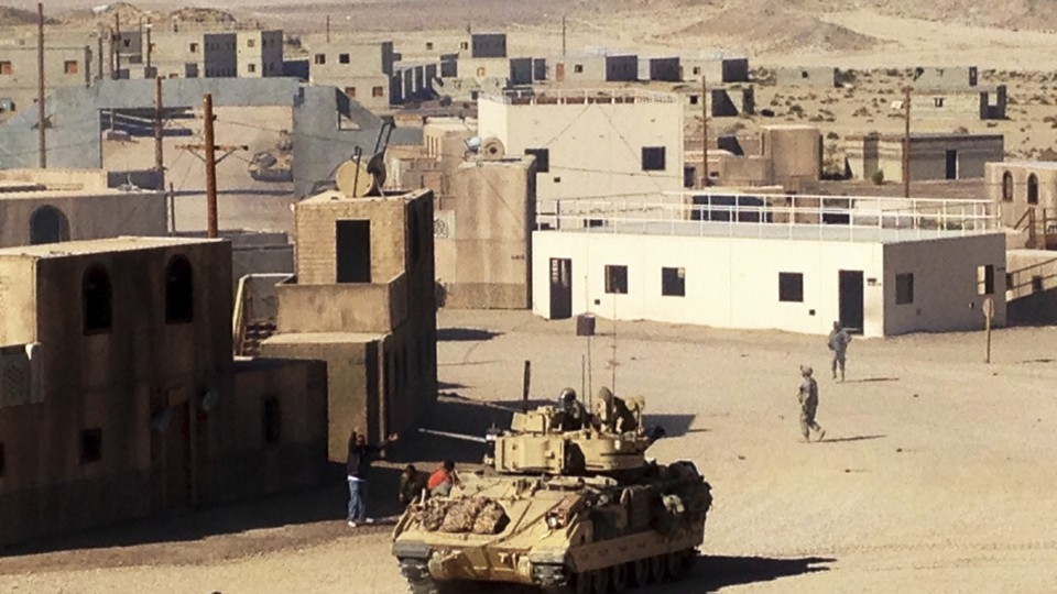 The mock village of Razish at the National Training Center in Fort Irwin, California